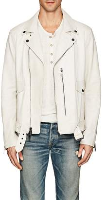 John Varvatos MEN'S DISTRESSED LEATHER BIKER JACKET