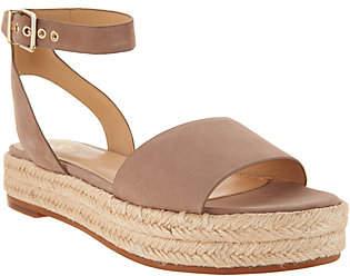 Vince Camuto Leather Ankle Strap Espadrilles- Kathalia