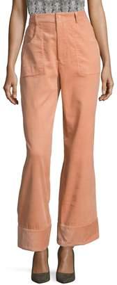 Rachel Antonoff Women's Cotton Textured Capri Crop Pant