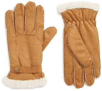 The Accessory Collective Faux Shearling Lined Gloves