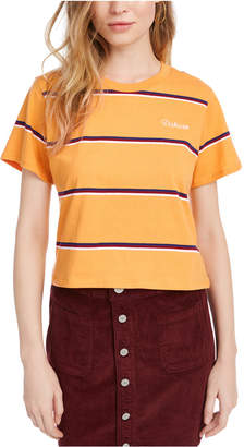 Dickies Cotton Striped Cropped T-Shirt