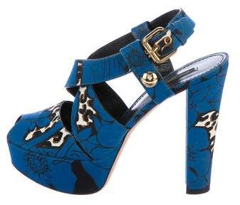 Louis Vuitton Printed Platform Sandals