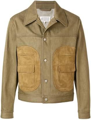 Maison Margiela leather-pockets trucker jacket