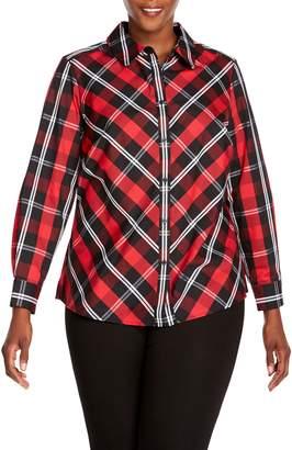 Foxcroft Tina Mackenzie Tartan Plaid Shirt
