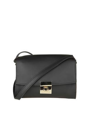 Furla Milano S Shoulder In Black Leather