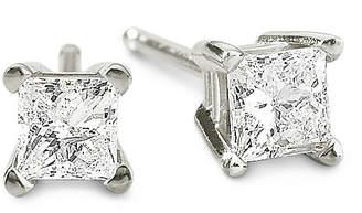 JCPenney FINE JEWELRY 1/3 CT. T.W. Princess Diamond Studs 14K Gold