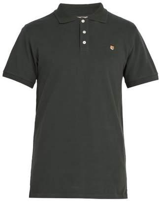 MAISON KITSUNÉ Logo Applique Cotton Pique Polo Shirt - Mens - Green