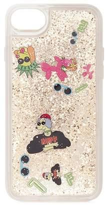 Casetify Dog floaty glitter iPhone 6/6S/7/8 case