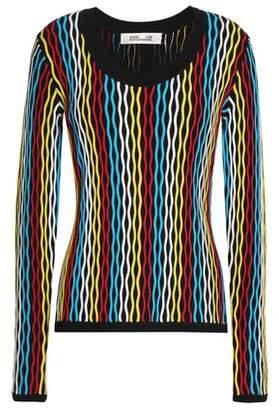 Diane von Furstenberg Merino Wool-Blend Jacquard Sweater