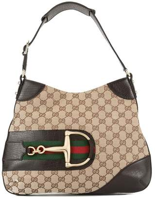 96908eafa9d Gucci PRE-OWNED Jackie GG pattern shoulder bag