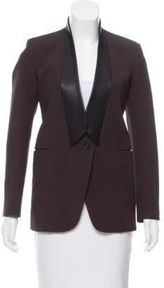 Neil Barrett Leather-Accented Blazer