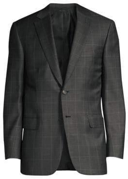 Virgin Wool Windowpane Suit