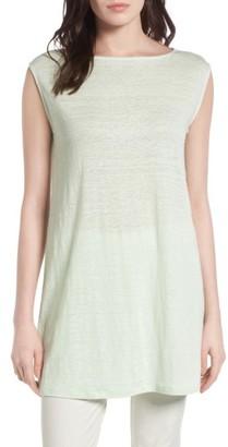 Women's Eileen Fisher Organic Linen Tunic $178 thestylecure.com