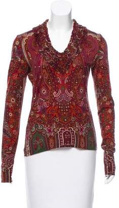Etro Long Sleeve Paisley Print Top
