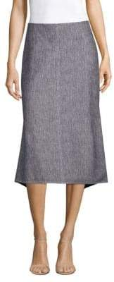 Derek Lam Seamed Bicolor Denim Midi Skirt