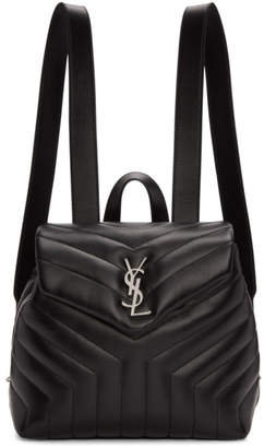 Saint Laurent Black Small Monogram Loulou Backpack