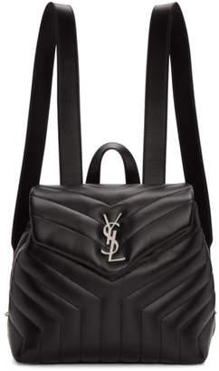 Saint Laurent Black Small Monogram Loulou Backpack