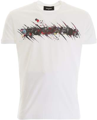 DSQUARED2 Airbrush Logo T-shirt