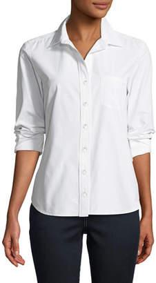 Finley Alex Parachute Taffeta Button-Front Shirt