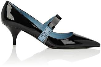 Prada Women's Bow-Embellished Patent Leather Pumps