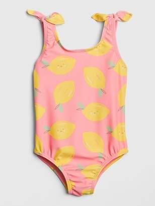 Gap Lemon Knot-Tie Swim One-Piece