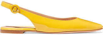 Gianvito Rossi Patent-leather Slingback Flats - Yellow
