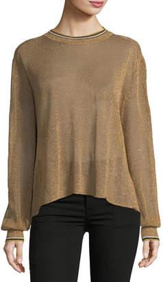 Giada Forte Crewneck Lurex®; Oversized Sweater