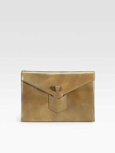 Yves Saint Laurent Flap Leather Clutch