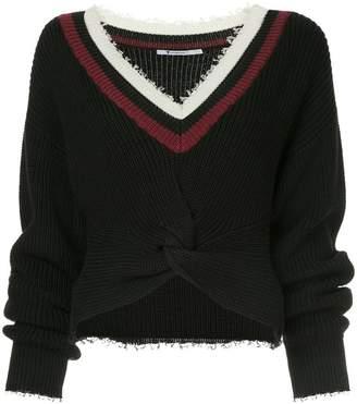 Alexander Wang cropped long-sleeve sweater