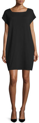 Eileen Fisher Short-Sleeve Square-Neck Shift Dress, Petite $178 thestylecure.com