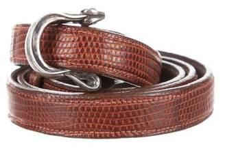 Kieselstein-Cord Sterling Asp Karung Belt