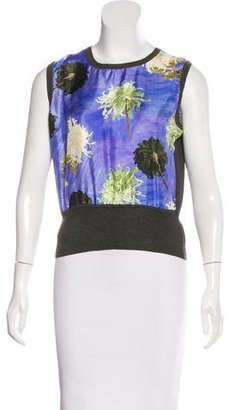 Paul Smith Wool Floral Print Top $85 thestylecure.com