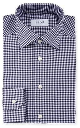 Eton Men's Slim Fit Gingham Check Dress Shirt