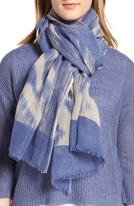 Women's Eileen Fisher Linen & Organic Cotton Ikat Scarf $98 thestylecure.com