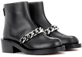 Givenchy Chain leather ankle boots