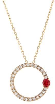 Suzanne Kalan 14K Yellow Gold White & Orange Sapphire Necklace