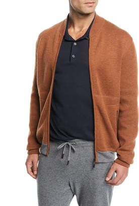Ermenegildo Zegna Men's Cashmere Full-Zip Blouson Sweater