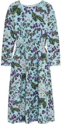 J.Crew - Juntos Printed Silk-crepe Dress - Blue $395 thestylecure.com