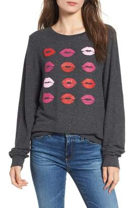 Wildfox Couture Smooches Baggy Beach Jumper Sweatshirt