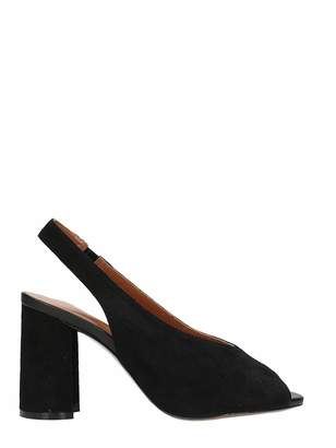 Lola Cruz Black Suede Sandals