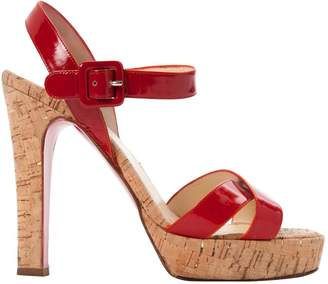 Christian Louboutin Red Patent leather Sandals