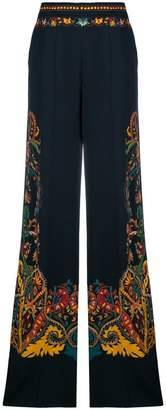 Etro embroided flared trousers
