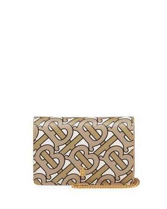 Burberry Jessie Chain Monogram Wallet