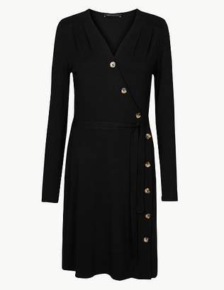 Marks and Spencer Jersey Long Sleeve Wrap Dress
