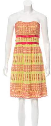 Tracy Reese Embroidered Strapless Dress