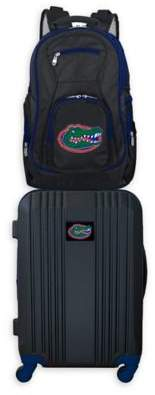 Ncaa University of Florida Backpack and 21-Inch Hardside Spinner Carry On Luggage Set