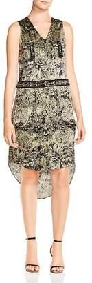 Haute Hippie Crystal Ball Beaded Charmeuse Dress