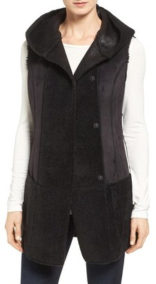 Women's Jones New York Bonded Faux Shearling Vest $198 thestylecure.com