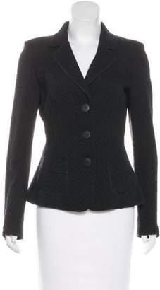 Armani Collezioni Notch-Lapel Button-Up Jacket