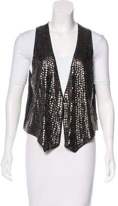 L'Agence Silk Sequin Vest
